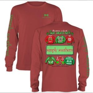 NWT Simply Southern Tacky Sweater Party top, S